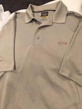 "Greg Norman ""Shark� Mens Sz(large)polyester/spande x�Grey�Short Sleeve GolfTop"