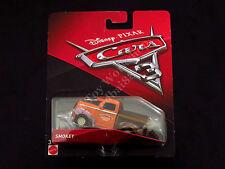 Disney Pixar Cars 3 Smokey Mattel Die-cast 2017, Brown Orange Race Truck