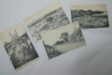 Set of 4 Vintage Indian Postcards Hyderabad Poona Rawalpindi Mhow