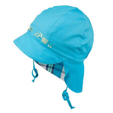 Tie up 100 Cotton Hat With UV 30 Sun Protection Spring Summer Baby Boys 3-003092-turquoise 8 Months-2 Years