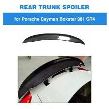Rear Trunk Spoiler Wing For Porsche Cayman Boxster 981 2Door 13-16 Carbon Fiber