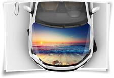Sonnenuntergang Wasser Strand SPA Wellness Sand Motorhaube Auto-Aufkleber Folie