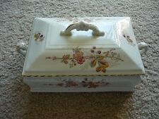 Antique Porcelain Dresser/Vanity Box With Lid/Beautiful!