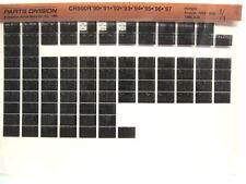 Honda CR500R CR500 90 91 92 93 94 95 96 97 Parts List Catalog Microfiche a858