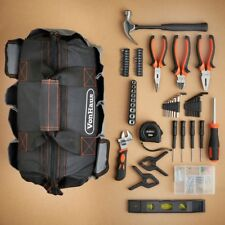 92 Piece Tool Kit Starter Home Repairs Electrical,Building With Carry Bag Gift