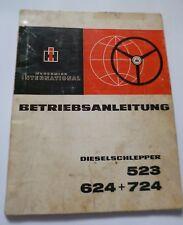 IHC Schlepper 523 + 624 + 724 Betriebsanleitung