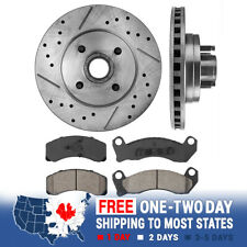 Front Rotors & Ceramic Pads For 1987 1988 1989 1990 1991 1992 1993 V8 Mustang GT