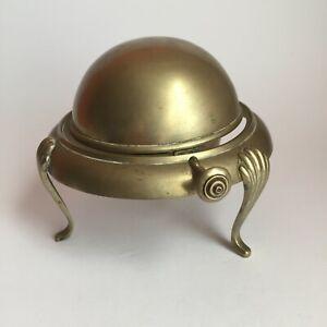 Vintage Antique Zenith EPNS Silver Plate Ashtray Caviar Sugar Dish Globe Bowl