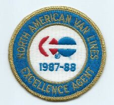 North American Van Lines Excellence agent 1987-88 driver patch 3-1/8 #1245