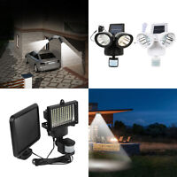 Waterproof LED Solar Powered Motion Sensor Light Garden Security Floodlight Lamp