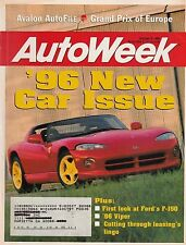 AutoWeek Oct 9, 1995 - Viper - Ford F-150 - Grand Prix of Europe - Avalon