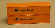 2 Walthers #8254, UPGRADED HO 40' corrugated Containers, Hapag-Lloyd