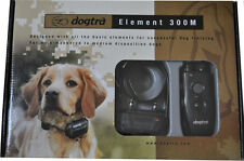 MINT! CONDITION Dogtra 300M Element Waterproof Remote Dog Training Shock Collar