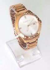 Esprit Damen Uhr Isobel rosé gold weiß Steine Edelstahl Datum ES108462003