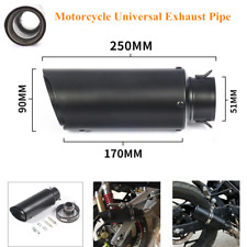 Motorcycle Refit Exhaust Pipe Muffler Cylinder Silencer Slip On Rear Tail w/Clip
