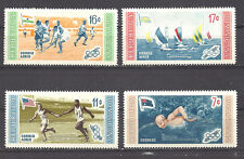 DOMINICAN REPUBLIC , 1956 OLYMPIC WINNERS , SET OF 4 PERF, MNH
