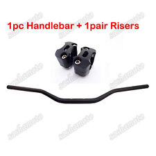Motocross Black 1 1/8'' Fat Handlebar Taper Risers Pit Dirt Trail Bike ATV Quad