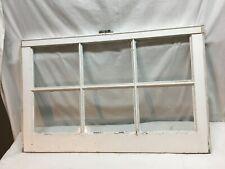 VTG 6 Pane Wooden  Window sash farm  Glass 7.5 x 9.5 Solid  frame 20in x32in