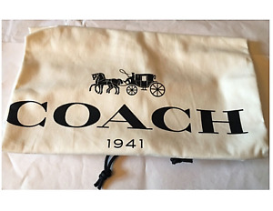 🌺🌹1 NEW COACH 1941 Cotton  Dust Cover Bag Drawstring 13.5'Wx 16'' H