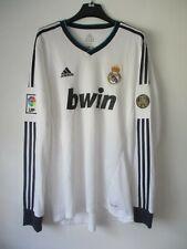 Maillot REAL MADRID 2012 2013 ADIDAS camiseta shirt 110 anos manches longues L/S