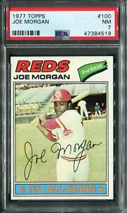1977 Topps #100 Joe Morgan PSA 7 NM