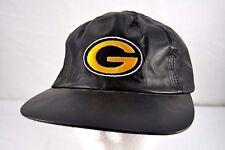 Green Bay Packers Black Leather Baseball Cap Adjustable