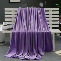 Soft Warm Plush Fleece Blanket Cashmere Touch Luxury Warm Home Sofa Bed Throw