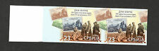 SERBIA-MNH** IMPERFORATED PAIR-STAMP DAY-KING PETAR ON THE BATTLEFIELD-2015.