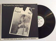 CAPITOL DISC JOCKEY ALBUM August 1967 vinyl LP Lou  Rawls, Nat King Cole NM+