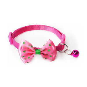 Small Dog Cat Collar Lacey ~ Buckle Bell Bow Tie Puppy Kitten Small Pet