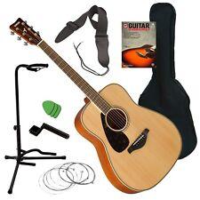 Yamaha FG820L Left-Handed Acoustic Guitar - Natural GUITAR ESSENTIALS BUNDLE