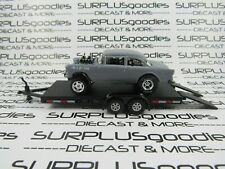 Hot Wheels 1:64 Loose 1955 '55 Chevrolet Bel-Air Gasser Hoonigan w/Car Trailer