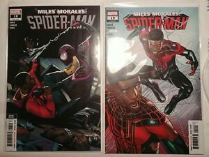 Miles Morales: Spiderman 18 2nd print and 19 variant cover clone appearance 🔑