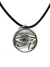 COLLIER PENDENTIF Oeil Egyptien Antique rond Necklace Round Ancient Egyptian eye