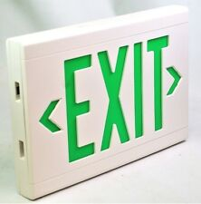 Hubbell Dual Lite LXUGWEI, Exit sign White with Green Letters 120/277VAC NEW
