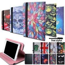 Folio Leather Rotating Stand Cover Case For Kurio 7 / 7S / 10 Tablet + Stylus