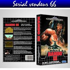 "BOX, CASE ""RAMBO 3"". MEGADRIVE. BOX + COVER PRINTED. NO GAME. MULTILINGUAL."