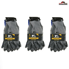 3 Wells Lamont Nitrile Work Gloves 5 Pack Large Gray New