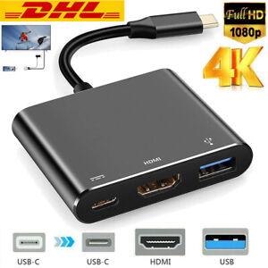 USB-C Typ-C zu auf HDMI HUB 4K TV Adapter Kabel für Macbook Pro Samsung Huawei