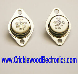 MJ15003 and/or MJ15004 Genuine Original ON Semiconductor (Used to be Motorola)