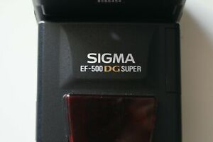 Sigma EF-500 DG Super Shoe Mount Flash for Sony Alpha Very Good Condition
