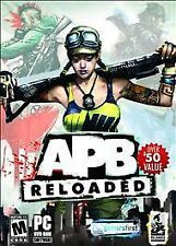 APB Reloaded (PC, 2011) DVD ROM Software Video Game Cars and Guns Mature 17+