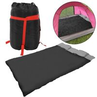 2-in-1 Double Sleeping Bag w/2 Pillows for Camping Hiking Travel + Carrying Case