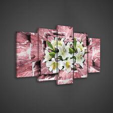 SET POSTER WANDBILD ORCHIDEE STEIN WEISS ROSA BLUMEN FOTO  20935 S17 5 teilig