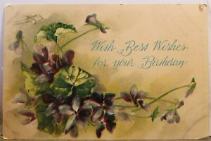 Greetings With Best Wishes For Your Birthday Postcard Old Vintage Card View Post