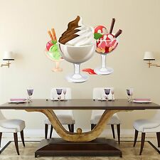 Wall Decals Ice Cream Sticker Full Color Decal Kitchen Cafe Art Decor Vinyl DD3
