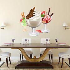 Wall Decals Ice Cream Sticker Full Color Decal Kitchen Cafe Art Decor Vinyl DD3