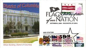 2021 Joe Biden Inauguration–Dual Cancel w DC Flag of Our Nation Fleetwood Cachet