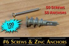 50 screws / 50 zinc hollow wall ancho