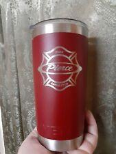 Yeti Thermos Vintage Rare Design Pierce Fire Apparatus Fireman Coffee Mug VG+